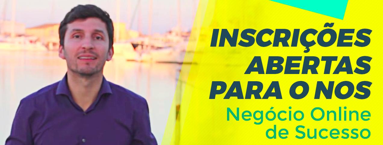 Inscrições abertas Negocio Onine de Sucesso - Bruno Pinheiro